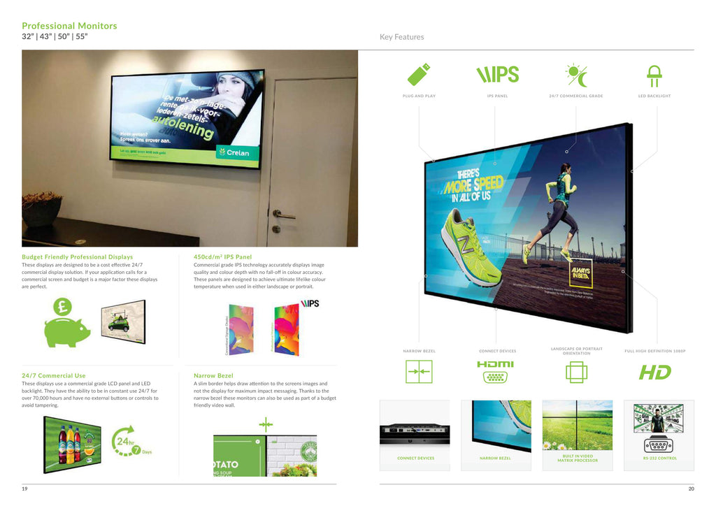 digital advertising screens features