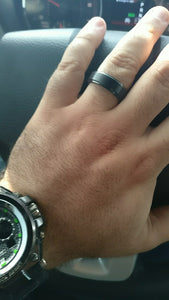 Basic Black Tungsten Ring - Jewelux & Co.