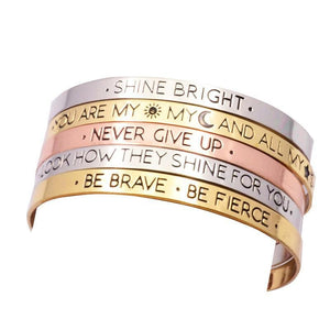 Self Affirmation Cuff Bangles - Jewelux & Co.