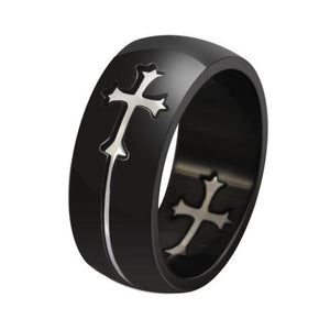 Detachable Cross Stainless Steel Ring - Jewelux & Co.
