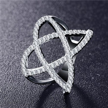 Double Letter X Shape Zirconia Micro Paved Ring - Jewelux & Co.