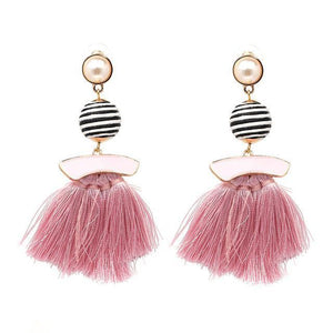 Vintage Pearl Tassel Drop Earring - Jewelux & Co.