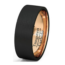 Black & Rose Gold Tungsten Ring - Jewelux & Co.