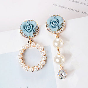 Flower Pearl Earring - Jewelux & Co.
