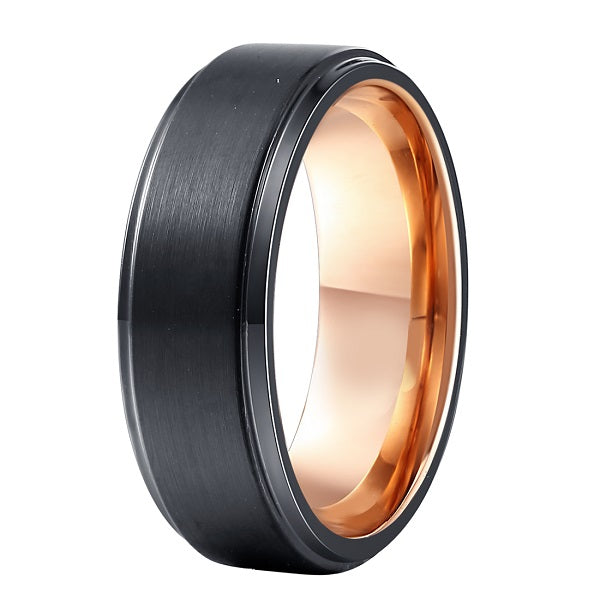 Retro Two Tone Tungsten Ring - Jewelux & Co.