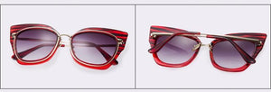 Square Cat Eye Sunglasses - Jewelux & Co.