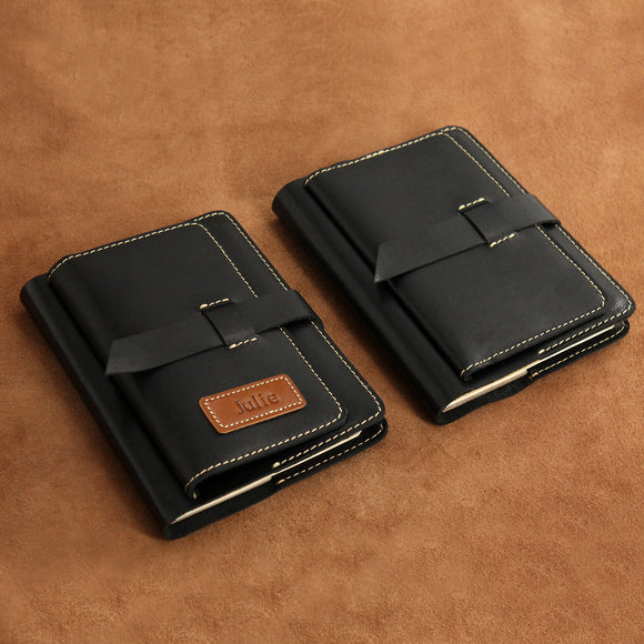 Refillable Leather Journal with Travel Wallet