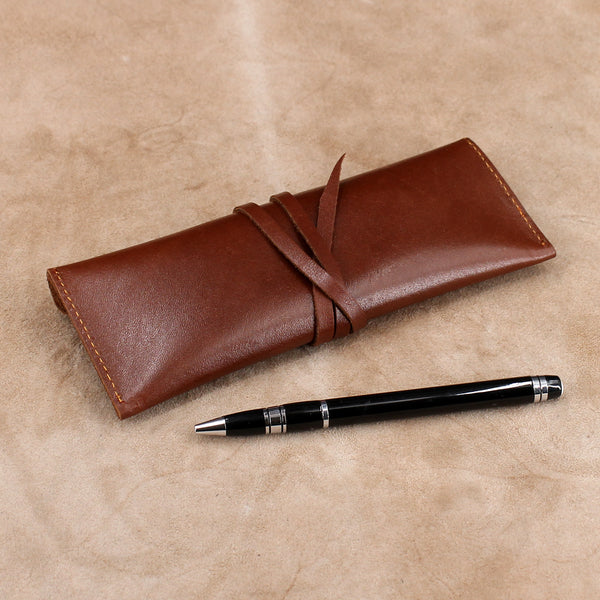 Leather Envelope Wrap Pencil Case
