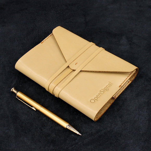 Envelope Wrap Refillable Leather Journal