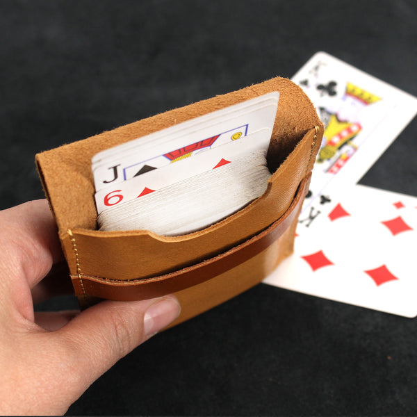 Leather Playing Card Case