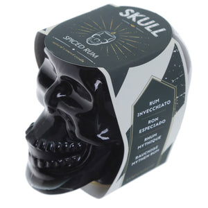 Black Soya Spiced Rum Skull Candle Jar