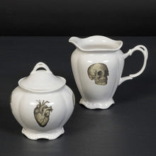 Anatomical Skull and Heart Milk Jug and Sugar Bowl with Gift Box