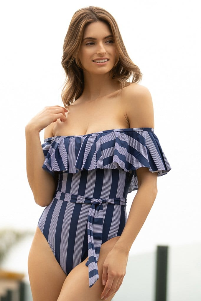 Long Lines Off Shoulder One Piece
