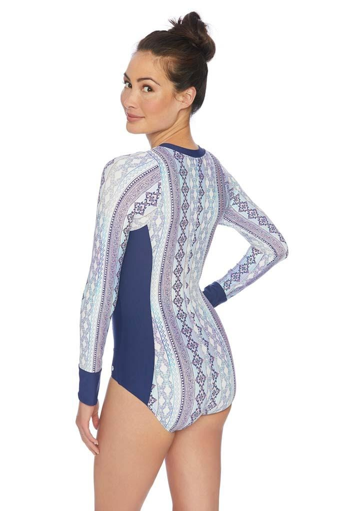 Stargazing Malibu Long Sleeve Zip One Piece