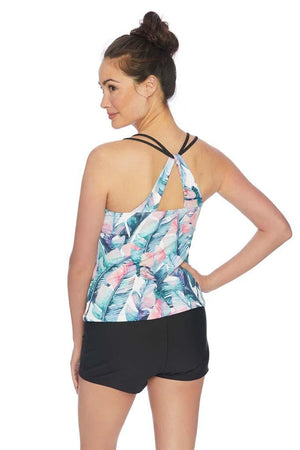 Summer Shade Shirred Tankini Top