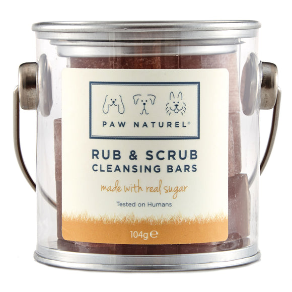 Rub & Scrub Cleansing Bar with real sugar