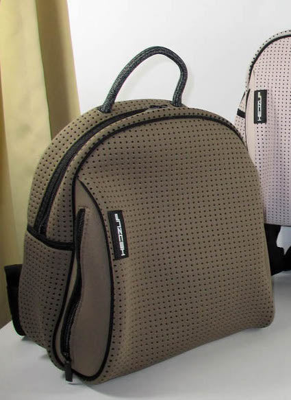 Neoprene Khaki Brown Back Pack