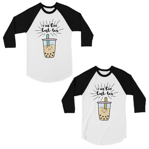 Boba Milk Best-Tea Matching Baseball Shirts Funny Gift For Sisters