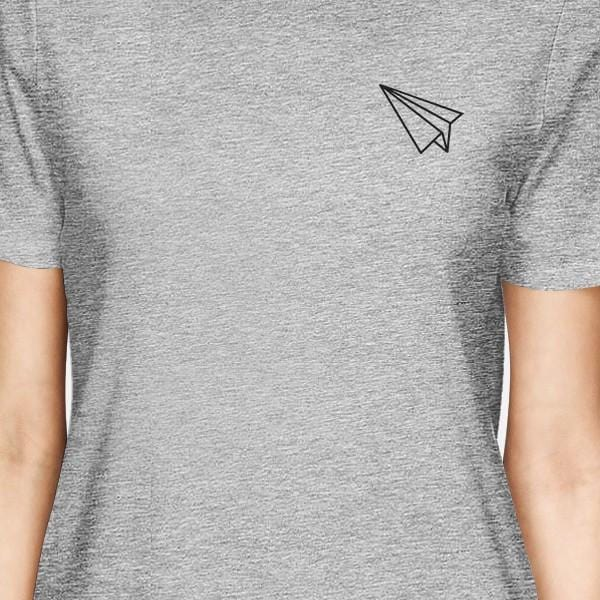 Origami Plane And Boat BFF Matching Grey Shirts