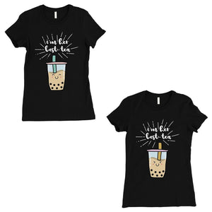 Boba Milk Best-Tea BFF Matching Shirts Womens Black T-Shirt
