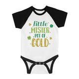 Little Mister Pot Of Gold Infant Baseball Shirt For St Patricks Day