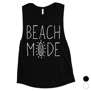 365 Printing Beach Mode Womens Relax Serene Mood Summer Vacation Muscle Shirt
