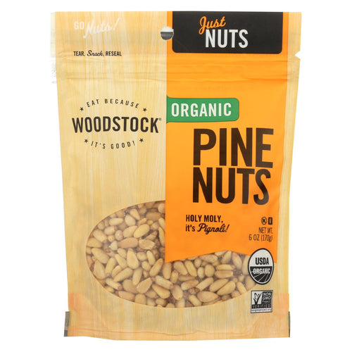Woodstock Organic Pine Nuts - Case Of 8 - 6 Oz.