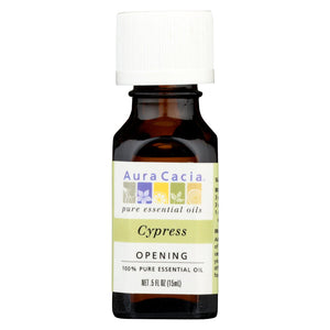Aura Cacia - Essential Solutions Oil Cypress - 0.5 Fl Oz