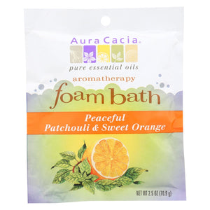 Aura Cacia - Foam Bath Peaceful Patchouli And Sweet Orange - 2.5 Oz - Case Of 6
