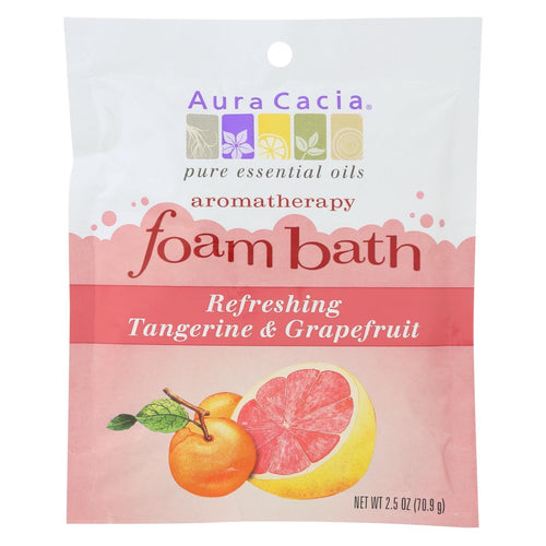 Aura Cacia - Foam Bath Refeshing Tangerine And Grapefruit - 2.5 Oz - Case Of 6