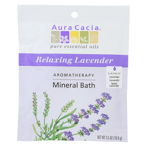 Aura Cacia - Aromatherapy Mineral Bath Lavender Harvest - 2.5 Oz - Case Of 6