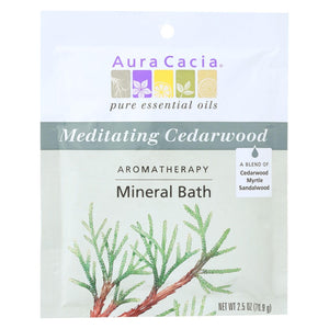 Aura Cacia - Aromatherapy Mineral Bath Meditation - 2.5 Oz - Case Of 6