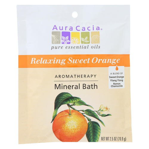 Aura Cacia - Aromatherapy Mineral Bath Relaxing Sweet Orange - 2.5 Oz - Case Of 6