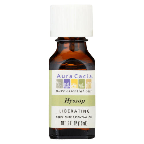 Aura Cacia - 100% Pure Essential Oil Hyssop Liberating - .5 Oz
