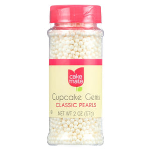 Cake Mate - Cake Decor - Cupcake Gems - Perfect Pearls - 2 Oz - Case Of 6