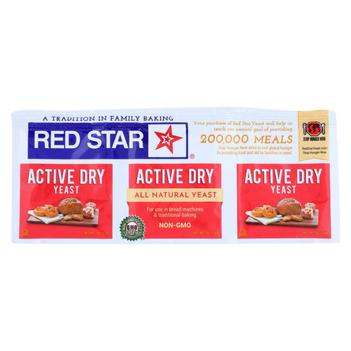 Red Star Nutritional Yeast - Active Dry - .75 Oz - Case Of 18