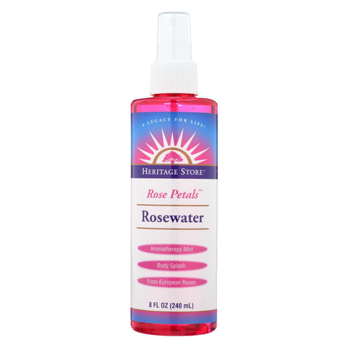 Heritage Products Rose Petals Rosewater Spray - 8 Fl Oz