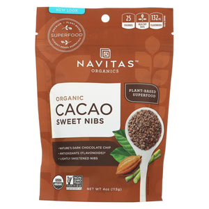Navitas Naturals Cacao Nibs - Organic - Sweet - Raw - 4 Oz - Case Of 12