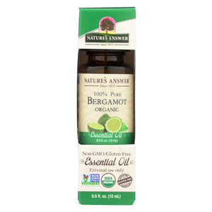 Nature's Answer - Organic Essential Oil - Bergamot - 0.5 Oz.