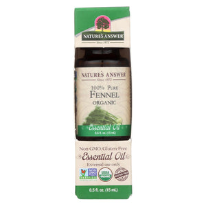 Nature's Answer - Organic Essential Oil - Fennel - 0.5 Oz.