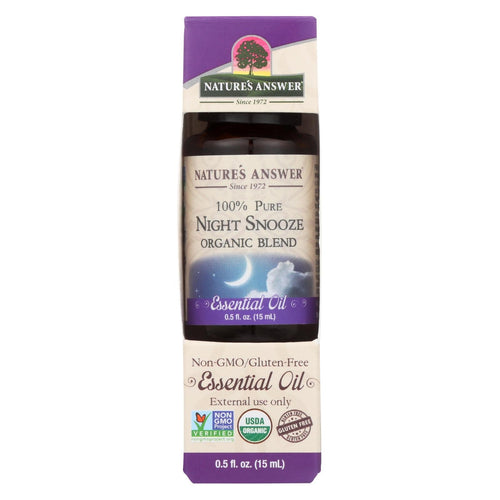 Nature's Answer - Organic Essential Oil Blend - Night Snooze - 0.5 Oz.