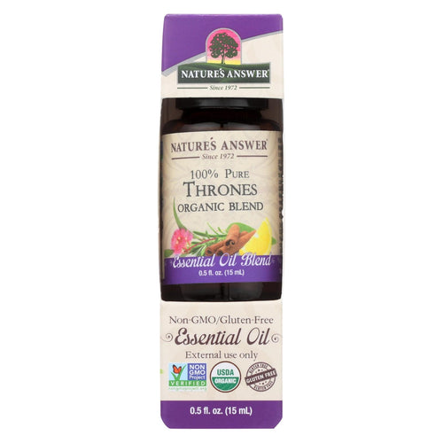 Nature's Answer - Organic Essential Oil Blend - Thrones - 0.5 Oz.