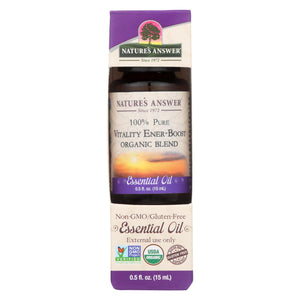 Nature's Answer - Organic Essential Oil Blend - Vitality Energy Boost - 0.5 Oz.