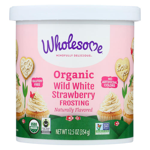 Wholesome Sweeteners Organic Frosting - White Strawberry - Case Of 6 - 12.5 Oz