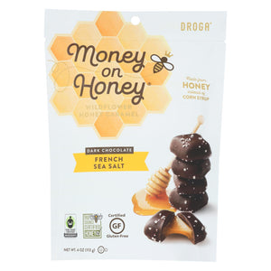 Money On Honey Dark Chocolate - French Sea Salt - Case Of 6 - 4.8 Oz