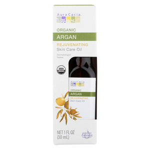 Aura Cacia - Organic Skincare Oil - Argan - Case Of 3 - 1 Fl Oz