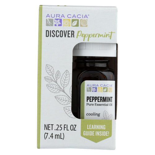 Aura Cacia - Discover Essential Oil - Peppermint - Case Of 3-.25 Fl Oz.