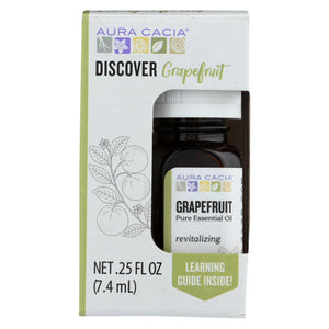 Aura Cacia - Discover Essential Oil - Grapefruit - Case Of 3-.25 Fl Oz.