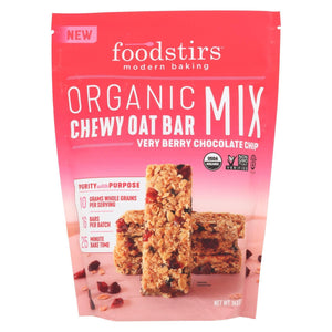 Foodstirs Oat Bar Mix - Very Berry Chocolate Chip - Case Of 6 - 14.8 Oz.