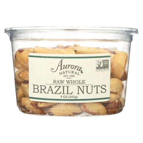 Aurora Natural Products - Raw Whole Brazil Nuts - Case Of 12 - 9 Oz.